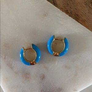BOGO! Blue Huggie Earrings